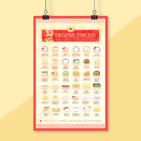 "Dumpling Day - The Dimsum Steam Team 11x17"" Collectible Poster"