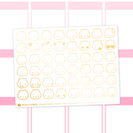 Steamie Emoji Clear Stickers (Gold Foil)