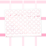Steamie Emoji Clear Stickers (Rose Gold Foil)