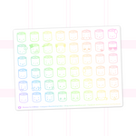 Suey Emoji Stickers On White Background (Holographic Foil)
