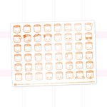 Suey Emoji Stickers On White Background (Copper Foil)