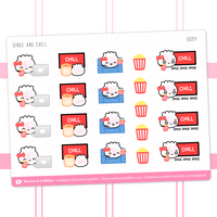 Netflix TV Binge-Watching Stickers