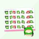 Superhero Stickers (Set Of 3)