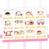 Lunar New Year Bucket List Stickers (Gold Foiled)