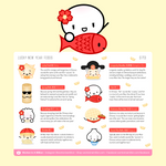 [DAY 4] Lunar New Year - Lucky Foods Stickers