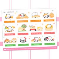 Fall Bucket List Stickers