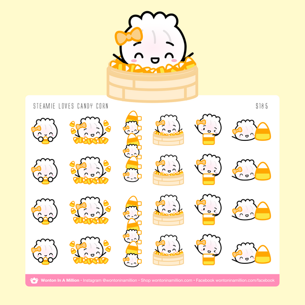 Candy Corn Halloween Stickers