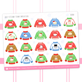 Ugly Christmas Sweaters Stickers
