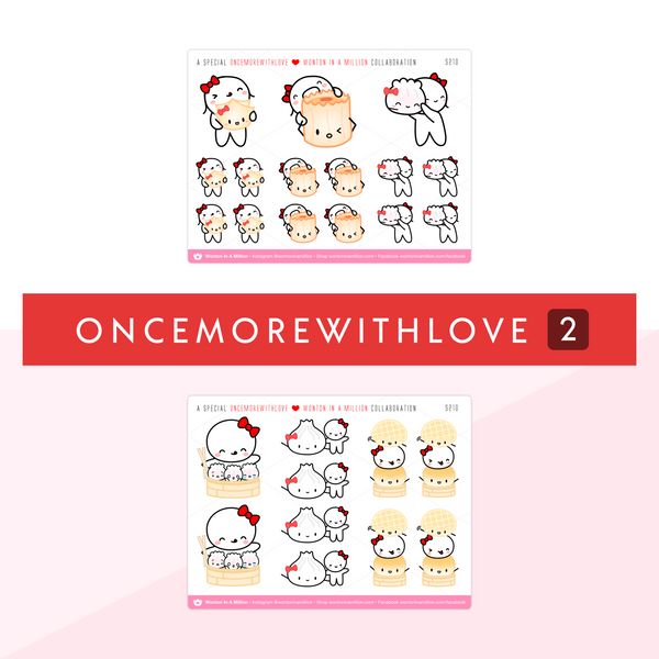 OnceMoreWithLove x Wonton In A Million Sticker Set (Set Of 2)