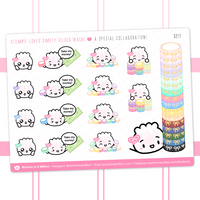 Steamie Loves simply gilded Washi Collab Stickers
