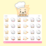 Baking Cookies, Brownies Stickers