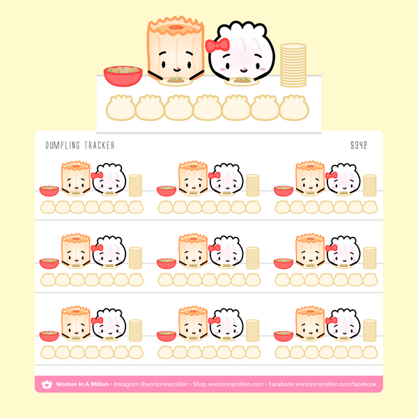 Dumpling 7 Days Weekly Habit Tracker Stickers