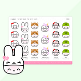 Steamie's Hats Sticker Set (Set Of 4)