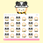 Dawn's Hufflepuff Badger Hat Stickers