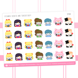 Sailor Steamie Scouts Stickers