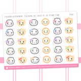 Eyebrow Appointment Stickers
