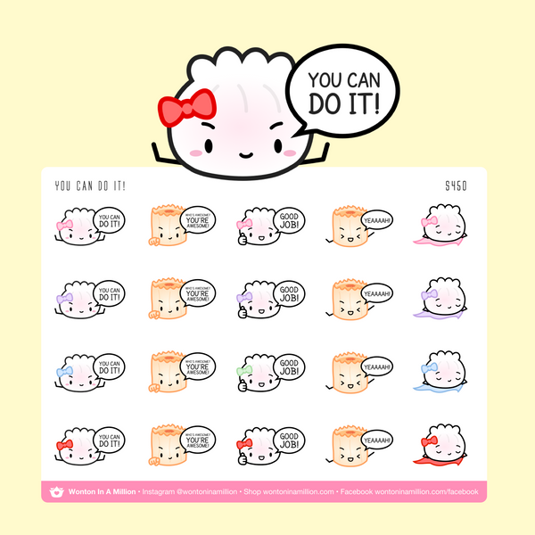 You Can Do It Motivational Stickers