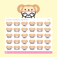 See, Hear, Speak No Evil Monkey Emoji Stickers