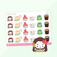 Wonton Upon A Time Sticker Bundle (Set Of 31) (~$2.41/each)