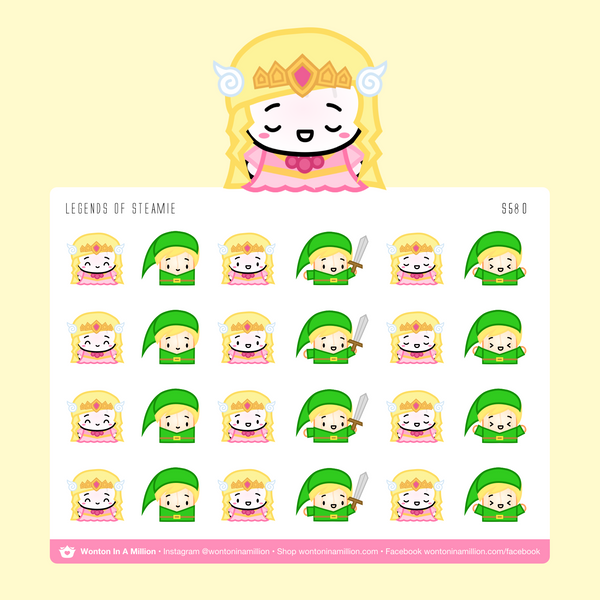 Wonton Upon A Time - Legends of Steamie Zelda Stickers
