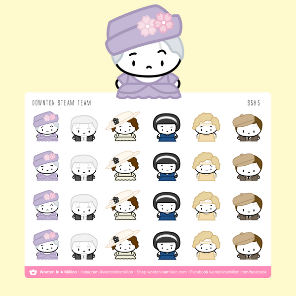 Wonton Upon A Time - Downton Steam Team Stickers