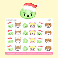 Wonton Upon A Time - You're A Mean Bun Mr. Grinch Stickers