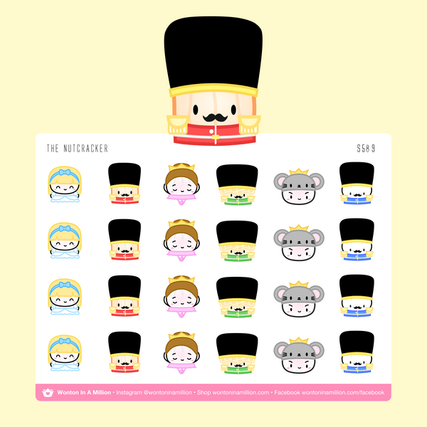 Wonton Upon A Time - The Nutcracker Stickers