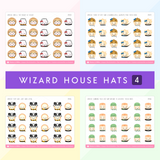 Wizard House Hat Stickers (Set Of 4 Houses)
