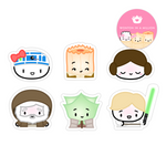Dumpling Wars Diecut Stickers (Set Of 6)