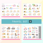 The Travel Collection Sticker Set (Set Of 4)