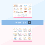Winter Bunderland Collection Sticker Set (Silver Foiled) (Set Of 2)