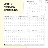 FUNCTIONAL | MONTHS for Yearly Overview (B6)