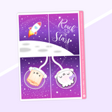 Galaxy - Full Boxes Stickers (Vertical Layout) - Reach For The Stars (Holographic Foiled)