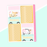 Ice Cream - Full Boxes Stickers (Vertical Layout) - Ice Cream Truck (Gold Foiled)