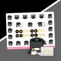 Ninja - Icon Stickers (Gold OR Silver Foiled)