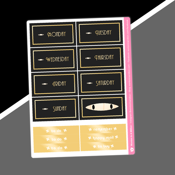 Ninja - Date Cover Stickers (Gold OR Silver Foiled)