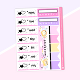 Love Is In The Air - (c) Date Cover Stickers (Pink Confetti Foiled)