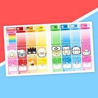 VERTICAL LAYOUT // Steam Teamrio Weekly Sticker Kit (Holographic Foiled)