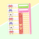 Mulan - Date Cover Stickers (Light Gold Foiled)