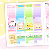 VERTICAL LAYOUT // Steam Team Celebrates Easter Weekly Sticker Kit (Pink Foiled)