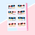 Happiest Dumplings On Earth - (i) Half Box Stickers - Polaroids Stickers