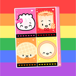 Rainbao Love - (E) Full Box Stickers - Characters 1