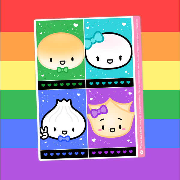 Rainbao Love - (F) Full Box Stickers - Characters 2