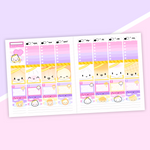 VERTICAL LAYOUT // Love Is In The Air Weekly Sticker Kit