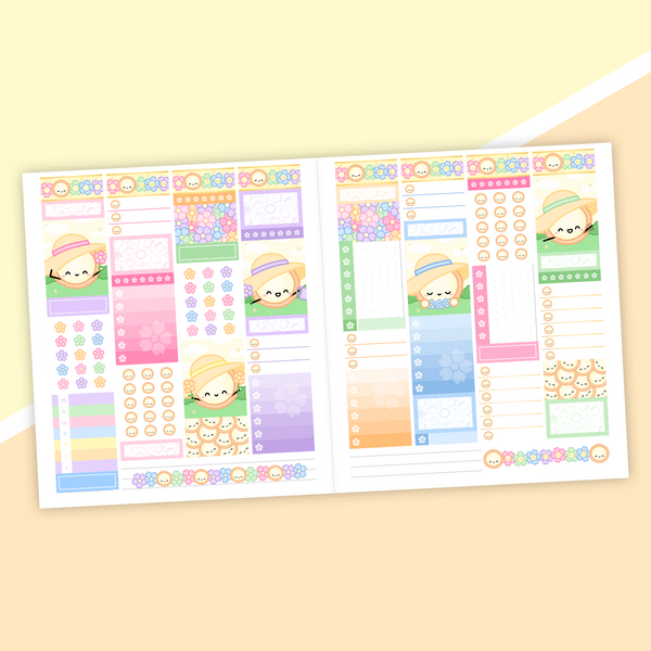 VERTICAL LAYOUT // Dawn Tot Weekly Sticker Kit (Gold Foil)