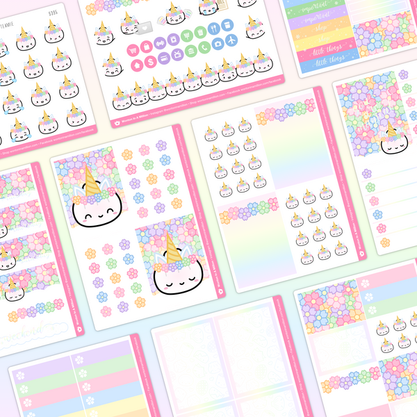 Unicorn Steamie Sticker Kit (Holo Foil)