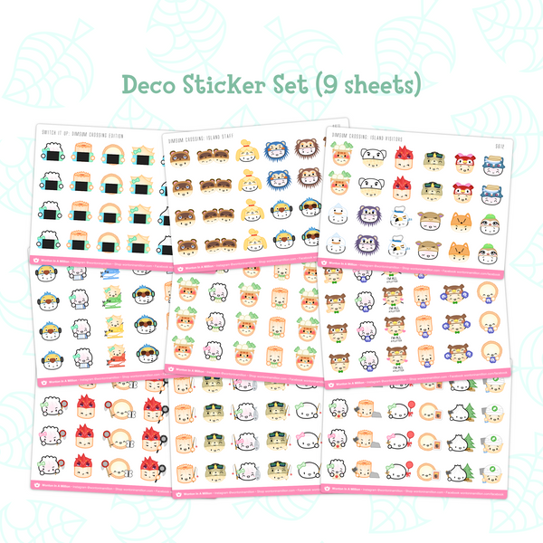 Dimsum Crossing - Deco Stickers (9 Sheets)