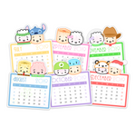 2019 Calendar Diecut Stickers (6 months - July to December)