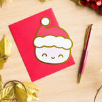 Gold Foiled Steamie Hagao Holiday Card