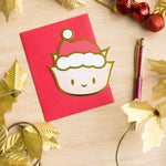 Gold Foiled Wonton Holiday Card (50% off)